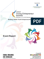 CAAYE Young Entrepreneur Summit - EVENT REPORT