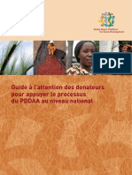 Guidelines for Donor Support to CAADP Process at a Country-Level (in French)