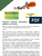 Governo convoca aprovados em concurso público na Paraíba