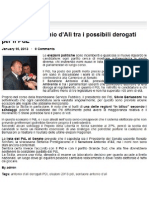 Senatore Antonio d'Alì sulle candidature in Sicilia