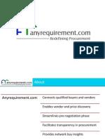 Anyrequirement.com corporate presentation