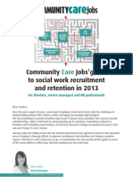 Community Care Recruitment Guide 2013
