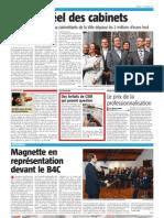 La Nouvelle Gazette - le coût réèl des cabinets - 11-12-12