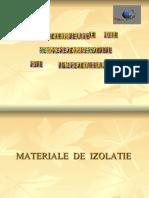 MATERIALE IZOLATOARE