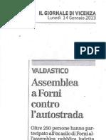 Articolo Giornale di Vicenza