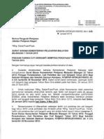 Surat Siaran KPM Bil 1 2013 :Pindaan Tarikh Cuti Berganti Sempena Perayaan Tahun Baru Cina Tahun 2013