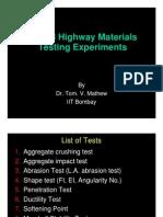Highway Materials Testing Experiments