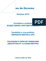 ELISEU DANIEL - plano de governo