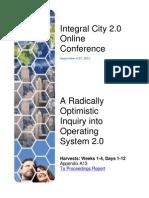 Integral City 2.0 Online Conference 2012 Harvests