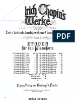 Chopin Etudes - Complete Sheet Music