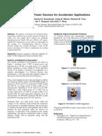 X-Band RF Power Sources for Accelerator Applications Mark F. Kirshner*, Richard D. Kowalczyk, Craig B. Wilsen, Richard B. True, Ian T. Simpson and John T. Wray