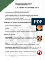 Prevención de los efectos del calor