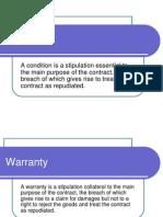 condition & warranties