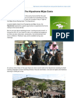 Guide to the Hipodromo Horse Racing Track in Mijas Malaga
