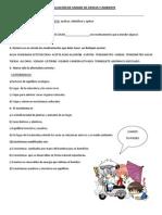 EVALUACIÓN DE UNIDAD DE CIENCIA Y AMBIENTE