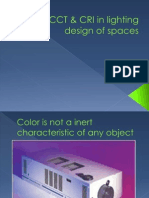 CCT & CRI in lighting design of spaces