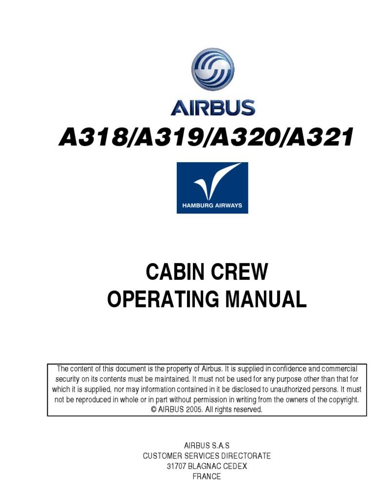 cabin crew manual rh scribd com airbus a320 flight crew operating manual airbus a320 aircraft operations manual