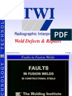 Weld defects interpretation