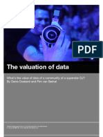 What's the financial value of data of a community of a superstar DJ?