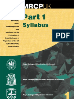 MRCPUK Part 1 Syllabus