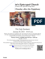 St. Martin's Episcopal Church Worship Bulletin - Sunday, Jan. 20 - 10:15 a.m.