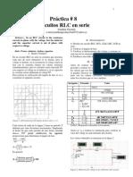 Circuitos RLC en serie (Simulado)