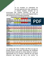 COSTA CALENDARIA DE SIEMBRA DE HORTALIZAS