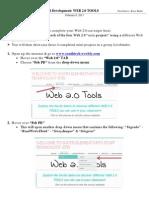Web 2.0 Scavenger Hunt Directions