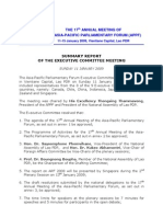Summary Report- 17th APPF Laos Jan09