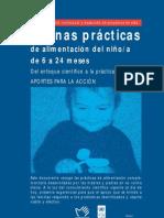 Buenas prácticas de alimentación de niño(a) de 6 a 24 meses