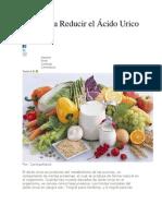 Dieta para reducir el ácido único