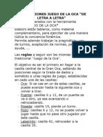 """JUEGO DE LA OCA """"DE LETRA A LETRA"""""""