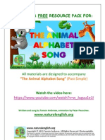 The Animal Alphabet Song (past simple)- FREE Activity Book