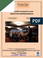 Desarrollo Económico Local. OBJETIVOS EMPRESARIALES (Es) Local Economic Development. GOALS OF BUSINESSES (Es) Tokiko Ekonomi Garapena. ENPRESEN HELBURUAK (Es)