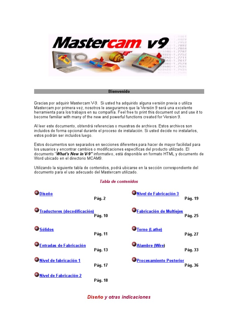 tutorial mastercam v 9 machine tool computer aided design rh scribd com