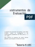instrumentos  de  evalución