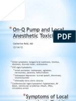 On-Q Pump and Local Anesthetic Toxicity