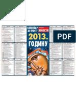 Crkveni pravoslavni kalendar 2013 - Večernje novosti