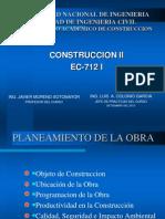 Planeamiento de Obra en Edicificaciones