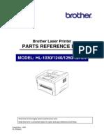 Brother HL-1030, 1240, 1250, 1270n Parts Manual.pdf