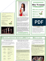 Miss Vermont Program Brochure 2012-2013