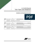 Manual del multiplexor ATV Talon 16 ch