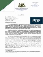 PA House Democrats' letter to Attorney Gen. Kathleen Kane on #PaLottery privatization.