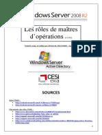 Les rôles de maitres d'opérations - FSMO (tuto de A à Z)