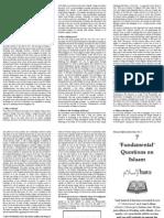 Seven Fundamental Questions on Islaam