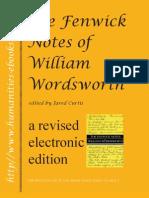 Fenwick Note of William Wordsworth