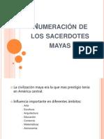 numeracion de los sacerdotes mayas