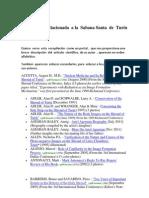 Bibliografía   Científica por  Autor  Relacionada  a  la  Sabana  Santa de  Turín