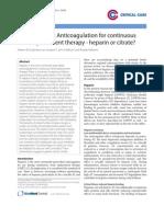 Heparina vs Citrato Hemofiltración