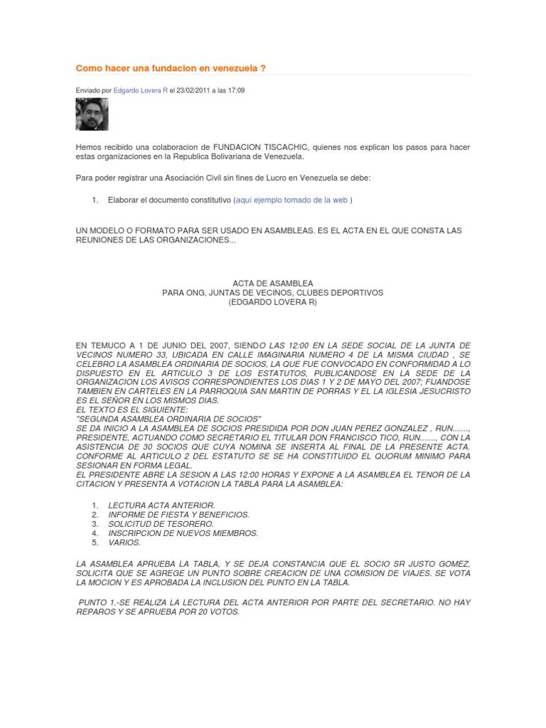 Increíble Plantilla De Resolución De La Junta Sin Fines De Lucro ...